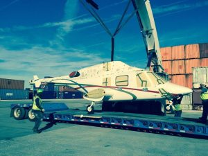 Transporting a Helicopter by road