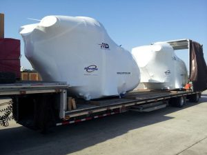 Transporting helicopters by road freight
