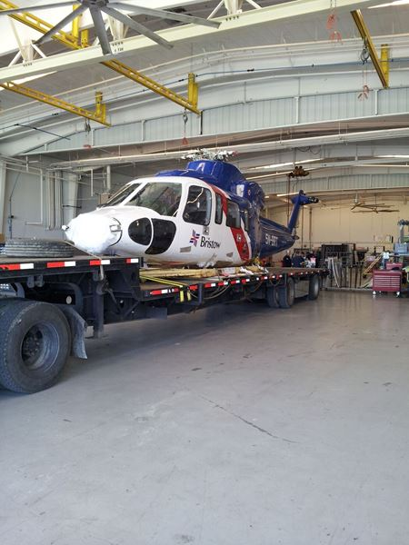 Helicopter by road freight